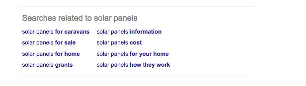 Google related searches   SEO meta   Impression Digital