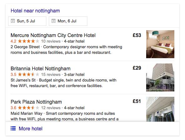 hotel formatting google