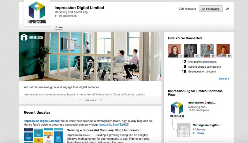 optimise LinkedIn company page