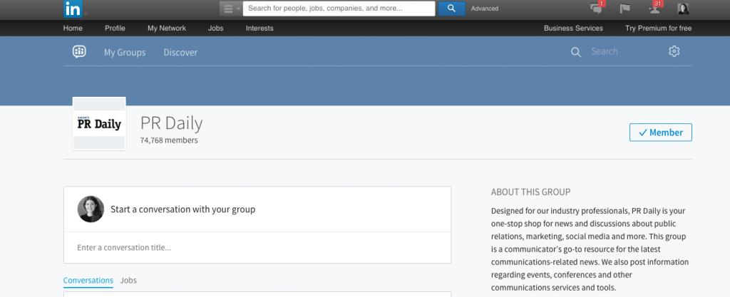 LinkedIn groups for marketing