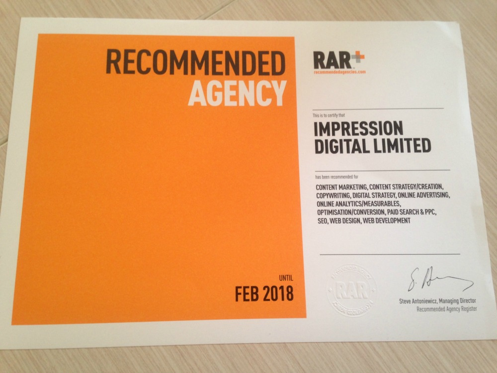 impression recommended agency