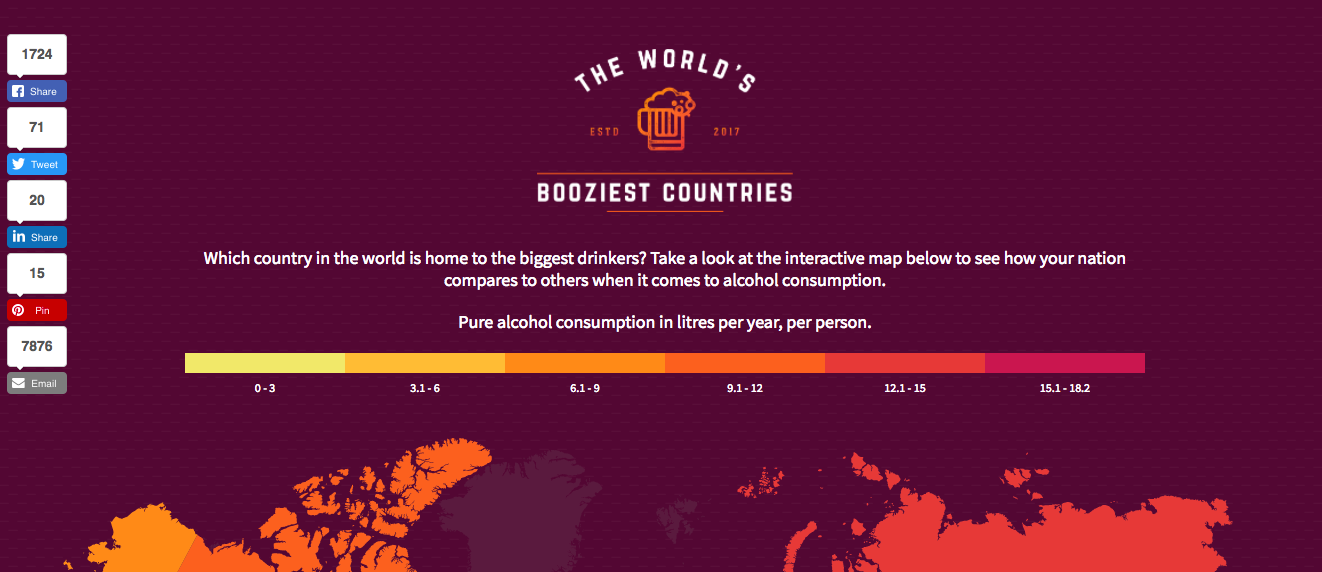 worlds booziest countries