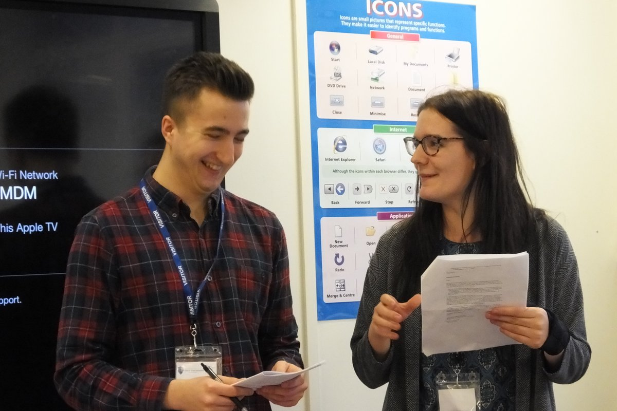 Chloe and George at Nottingham Girl's High School on Digital Day 2017