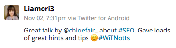 chloe fair women in tech tweets