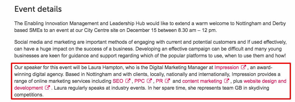 Strategic Marketing with Impression Digital Nottingham Trent University