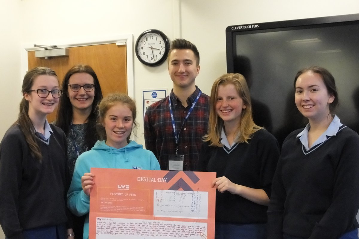 Nottingham Girls High School's winning group for Digital Day 2017