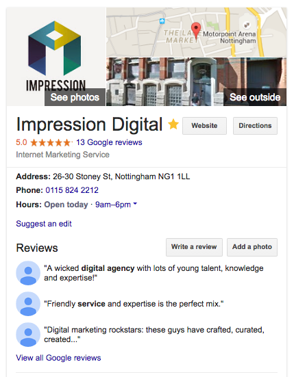 Knowledge Graph, Impression Digital, Google My Business