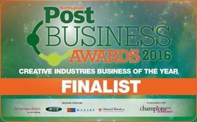 Nottingham Post Business Awards 2016 Creative Industries