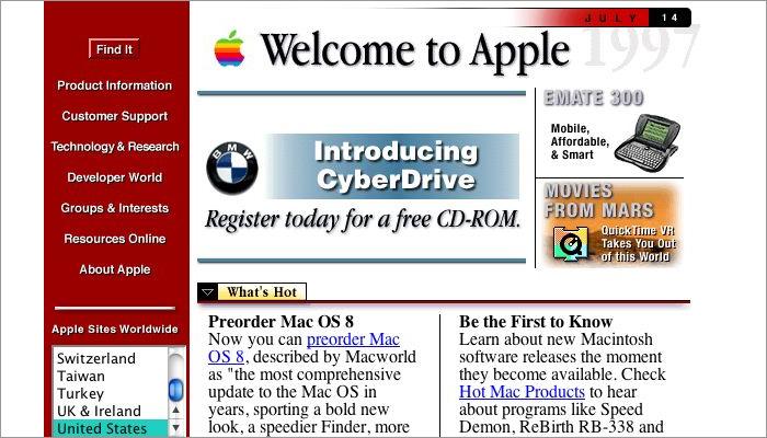 Old-Apple-Website