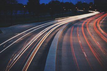 speeding cars