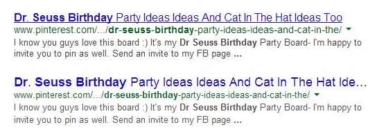 Google Search Snippets