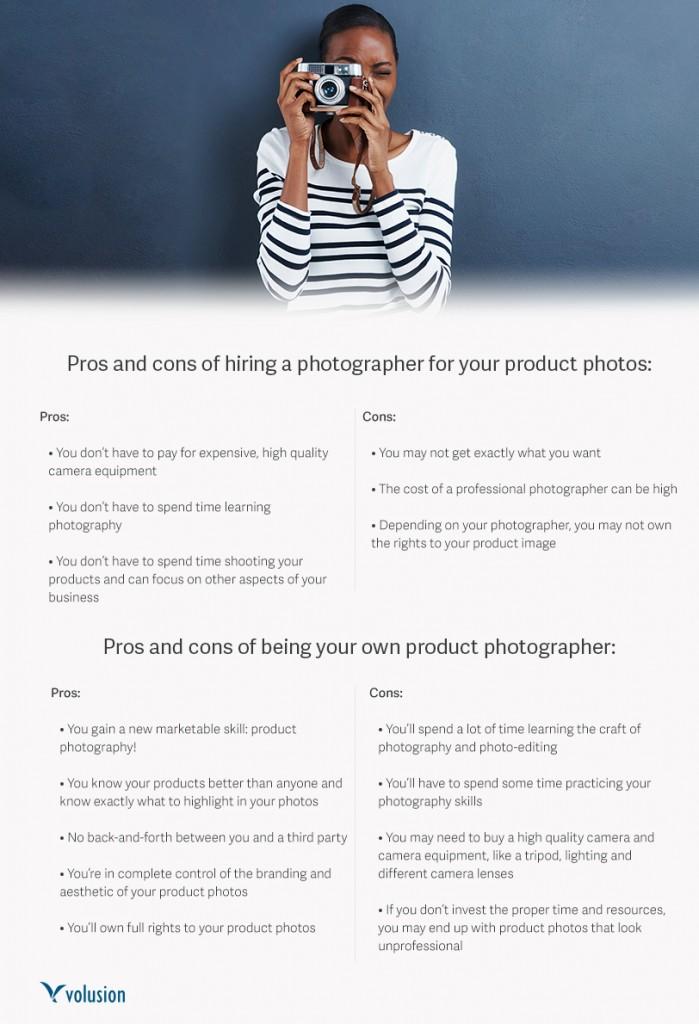 Volusion e-commerce photography guide impression