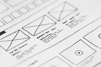 web page design sketch