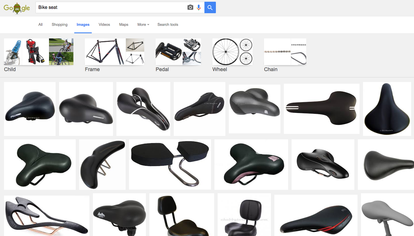google image serp photography impression