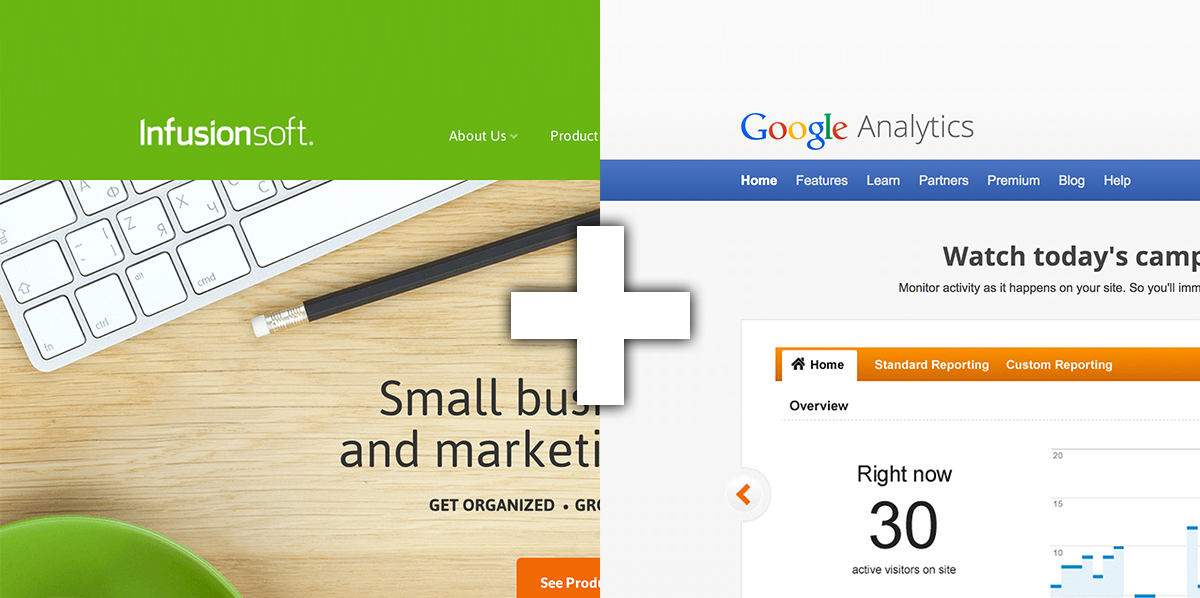 Infusionsoft and Google Analytics cross-domain iFrame goal