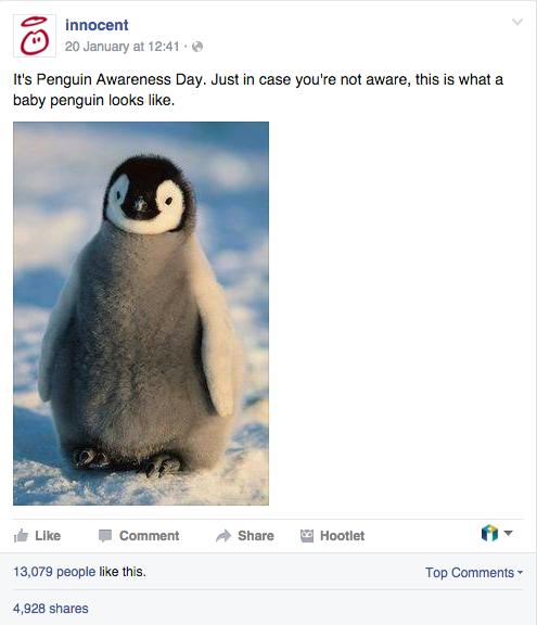 innocent penguin awareness micro content example