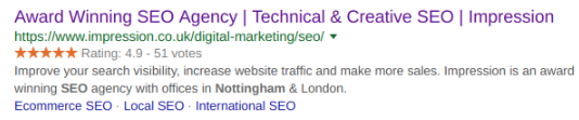 Impression SEO serps