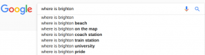 SERP Google Suggestion example