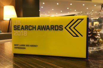 impression best large seo agency uk search awards