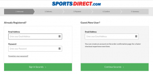 landing page checkout example