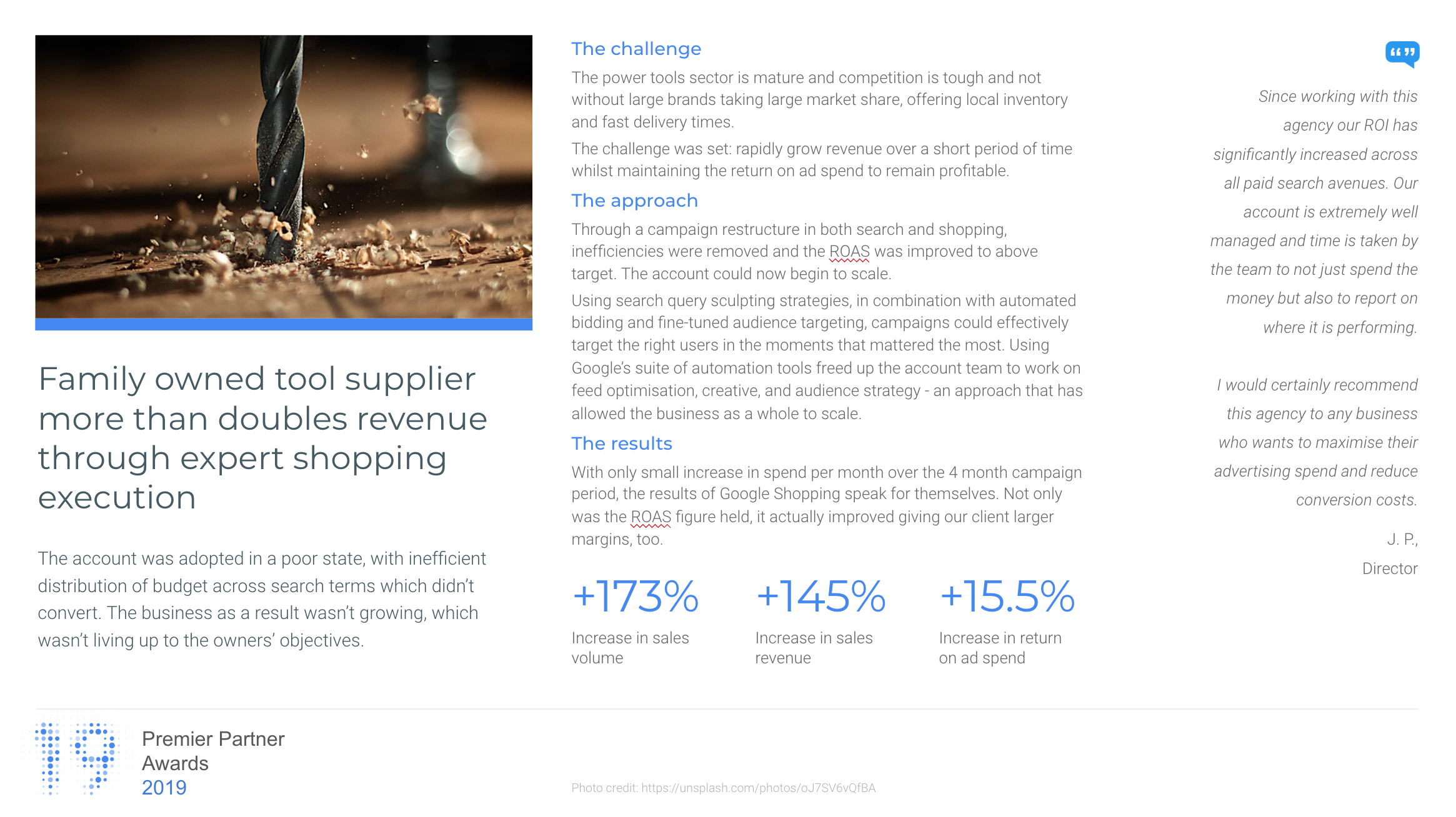 google shopping case study awards