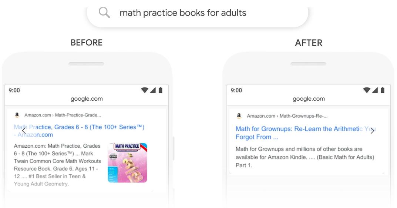 Google BERT Example Math Book