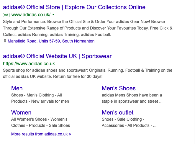 Even bigger brands like adidas® are aware of the power of trademark symbols