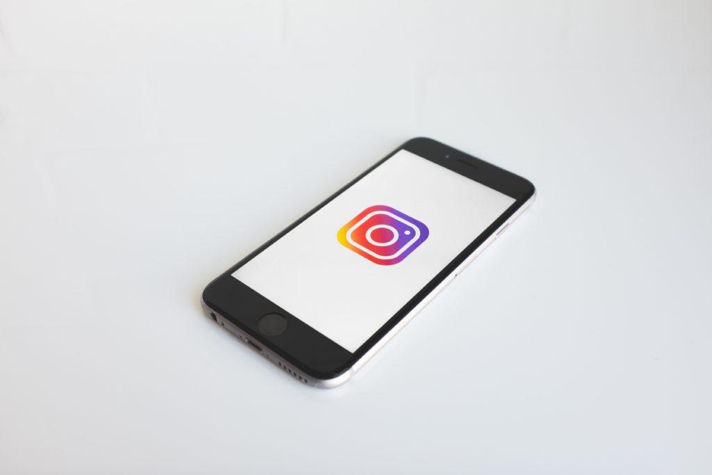 Instagram logo on an iPhone screen
